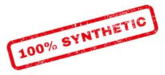 100 Percent Synthetic Text Rubber Stamp Stock Illustration