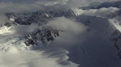 Surrealistic High Glacier Alpine Alaska Aerial Stock Footage