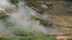 Valley of Geysers in Kamchatka Peninsula Stock Footage