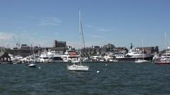 Boston Yacht Haven Marina in Boston, MA. Stock Footage