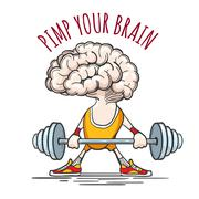 Pimp Your Brain Stock Illustration