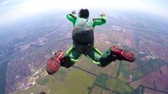 Skydivers in free fall, editorial Stock Footage