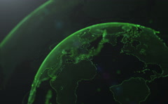 Earth abstract animation. Earth globe from dots Stock Footage