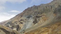 Caldera of active volcano Mutnovsky Stock Footage