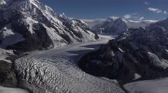 Aerial Panning Mt Fairweather Alaska Stock Footage