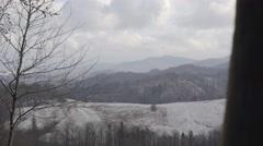 WINTER LANDSCAPE CARPATHIAN MOUNTAINS Stock Footage