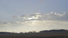 EARLY MORNING LANDSCAPE, WINDY WEATHER Stock Footage