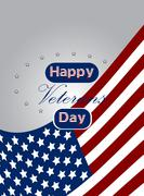 Colored background with text for veteran's day. Stock Illustration