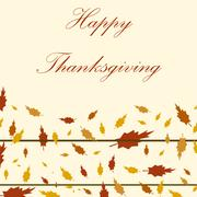 Happy Thanksgiving Day background Stock Illustration