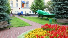 Square in territory of world famous Mosfilm studio in Moscow Stock Footage