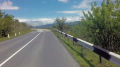 Autotravel Summer south of Crimea. Beautiful serpentine mountain roads Stock Footage