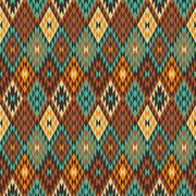 American Indian seamless pattern Stock Illustration