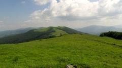 Carpathian Mountain Ridge Stock Footage