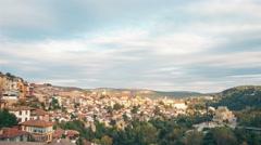 Ancient mountain town sunset time-lapse in Veliko Tarnovo, 5K 3240p Arkistovideo