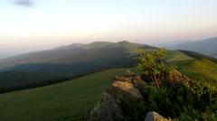 Sunset over the Carpathian Dividing Range Stock Footage