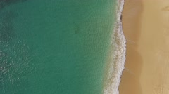 Aerial Hawaii Beach flying over the waves Stock Footage