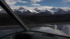 Alaska Bush Plane Ocean and Glaciers POV Stock Footage