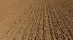 Low flying  over the ploughed field south of Russia Stock Footage