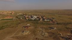 City Chess Kalmykia Sunset Stock Footage