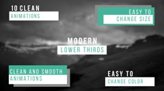 Modern Lower Thirds Stock After Effects