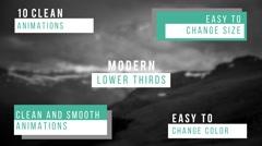 Modern Lower Thirds Kuvapankki erikoistehosteet