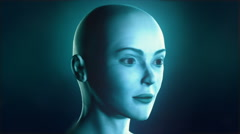 X-ray head showing placement of the human soul Stock Footage