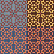 Seamless symmetric geometric pattern Stock Illustration