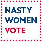 Nasty Women Vote - politic inscription Stock Illustration