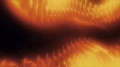 Glowing organic creature. Abstract background. Looping. Stock Footage