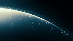 Cyberspace horizon. Abstract background. Loop. Stock Footage