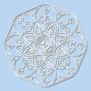 Vector decorative element mandala. Stock Illustration