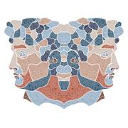 Bright twins portrait, zodiac Gemini sign Stock Illustration