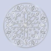 Decorative element mandala. Stock Illustration
