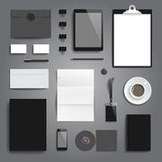 Corporate identity stationery mockup Stock Illustration