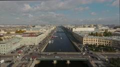 Fontanka river. Saint Petersburg Stock Footage