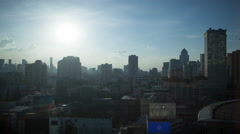 Timelapse of evening changing day in Bangkok, Thailand Stock Footage