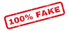 100 Percent Fake Text Rubber Stamp Stock Illustration