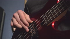 Guy plays on the guitar Stock Footage
