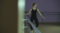 Woman in ballet position Stock Footage