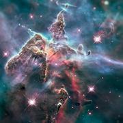 Mystic Mountain. Region in the Carina Nebula. Stock Photos