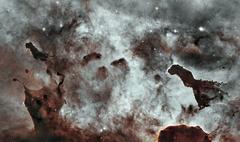 Dust Pillars in the Carina Nebula. Stock Photos