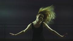 Girl ballerina waving hair Stock Footage