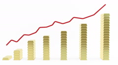 Gold price on the stock chart Stock Footage