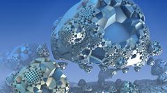3D fantasy abstract background from strange shapes, 3D illustration Stock Illustration