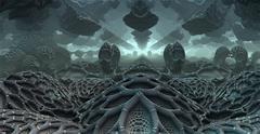 3D fantasy background from strange shapes, 3D illustration Stock Illustration