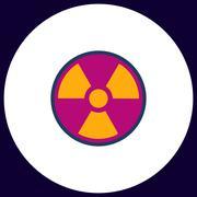 Radiation computer symbol Stock Illustration