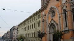 Church of Immaculate Mary, Roma, Lazio, Italy. Stock Footage