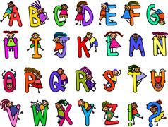 Childrens Alphabet Stock Illustration