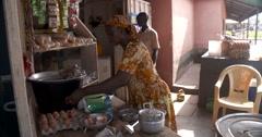 Ghanaian women cooking Stock Footage