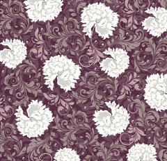 Vintage background with ornate elegant abstract floral design Stock Illustration